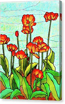 Blooming Flowers Canvas Print by Farah Faizal