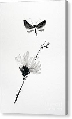 Blossomfly Canvas Print by Sibby S