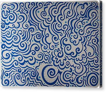 Blue Abstract Canvas Print by Mandy Shupp