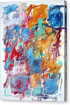 Blue And Orange Abstract Canvas Print by Michael Henderson