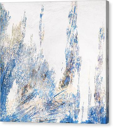 Blue And White Art - Ice Castles - Sharon Cummings Canvas Print by Sharon Cummings