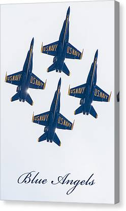 Blue Angels 1 Canvas Print by Susan  McMenamin
