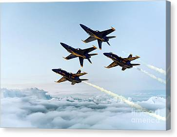 Blue Angels Canvas Print by J Biggadike