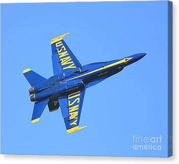 Blue Angels No.4 Canvas Print by Wingsdomain Art and Photography