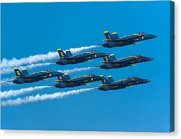 Blue Angels Canvas Print by Sebastian Musial
