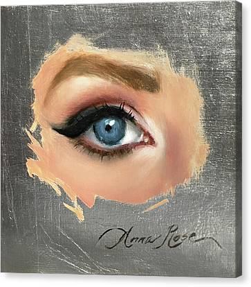 Blue Canvas Print by Anna Rose Bain