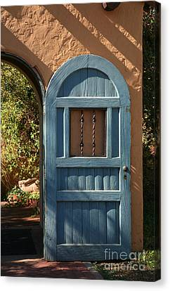 Blue Arch Door Canvas Print by Timothy Johnson