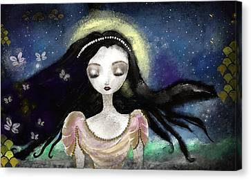 Blue Autumn Canvas Print by Yazmin Basa