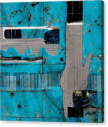 Blue Bag Ditty  Canvas Print by Laura  Lein-Svencner