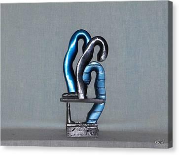 Blue Boys Canvas Print by Kent Kanouse