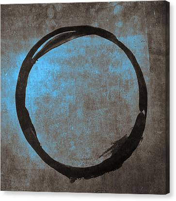 Blue Brown Enso Canvas Print by Julie Niemela