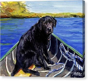 Blue Canoe Canvas Print by Molly Poole