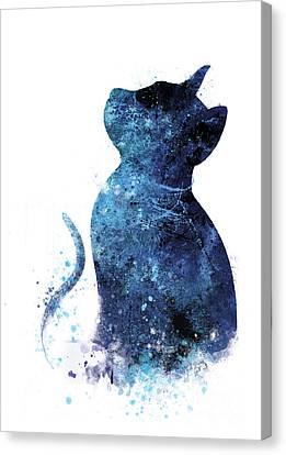 Blue Cat Canvas Print by Artsaren