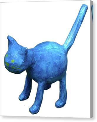 Blue Cat Canvas Print by Maria Rosa