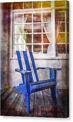 Blue Chair Canvas Print by Debra and Dave Vanderlaan