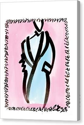 Blue Coat Canvas Print by Carl Griffasi