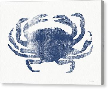 Blue Crab- Art By Linda Woods Canvas Print by Linda Woods