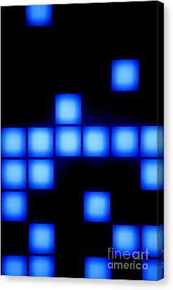 Blue Cubes Canvas Print by Brandon Tabiolo - Printscapes