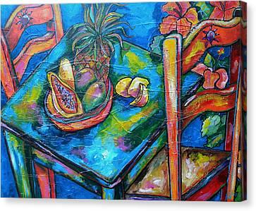 Blue Day Canvas Print by Patti Schermerhorn