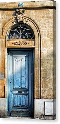 Blue Door In Sunlight Canvas Print by Georgia Fowler