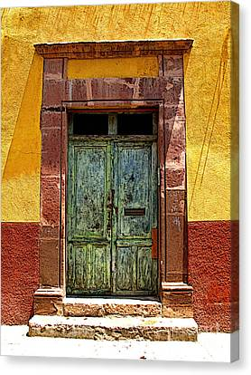 Blue Door Canvas Print by Mexicolors Art Photography