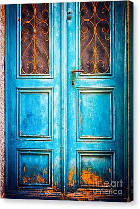 Blue Door Canvas Print by Silvia Ganora