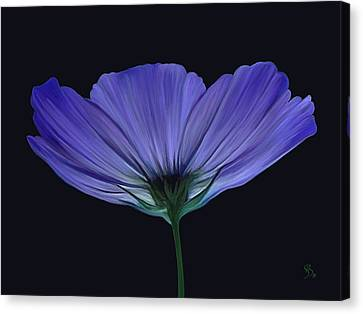 Blue Flower Canvas Print by Sue  Brehant