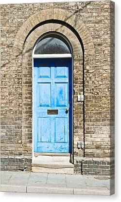 Blue Front Door Canvas Print by Tom Gowanlock