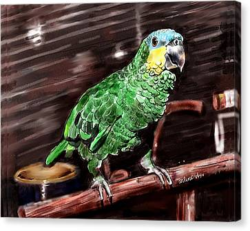 Blue-fronted Amazon Parrot Canvas Print by Arline Wagner