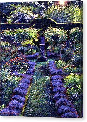 Blue Garden Sunset Canvas Print by David Lloyd Glover
