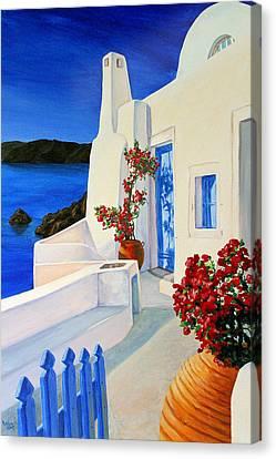 Blue Gate Canvas Print by Patrick Parker