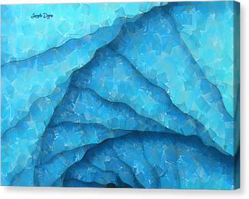 Blue Geometry - Da Canvas Print by Leonardo Digenio