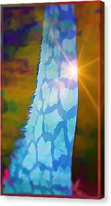 Blue Giraffe Canvas Print by Mindy Newman