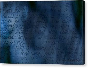 Blue Glimpse Canvas Print by Vicki Ferrari
