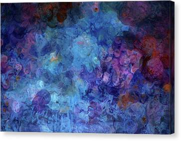 Blue Grotto Painting  Canvas Print by Don Wright