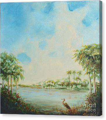 Blue Heron Pointe Canvas Print by Michele Hollister - for Nancy Asbell