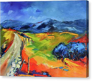 Blue Hills By Elise Palmigiani Canvas Print by Elise Palmigiani