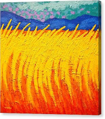 Blue Hills Canvas Print by John  Nolan