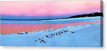 Blue Hour Sunset  Canvas Print by Andrea Kollo