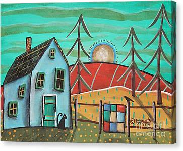 Blue House 1 Canvas Print by Karla Gerard