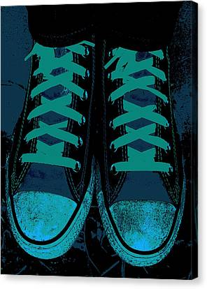 Blue Jean Blues Canvas Print by Ed Smith
