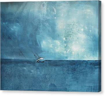 Blue Canvas Print by Kristina Bros