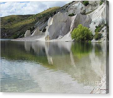 Blue Lakes  Canvas Print by Joyce Woodhouse