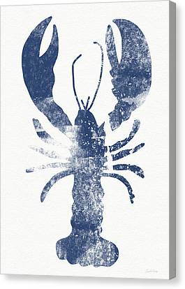 Blue Lobster- Art By Linda Woods Canvas Print by Linda Woods