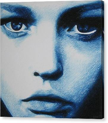 Blue Canvas Print by Lynet McDonald