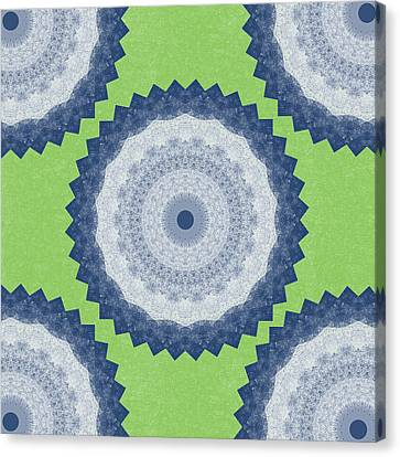 Blue Mandala- Art By Linda Woods Canvas Print by Linda Woods