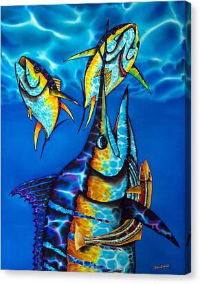 Blue Marlin Canvas Print by Daniel Jean-Baptiste