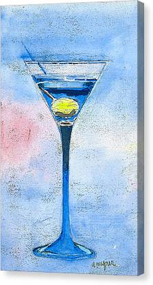 Blue Martini Canvas Print by Arline Wagner