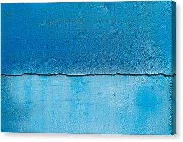 Blue Metal Texture With Scratches. Canvas Print by Natalia Yefimova