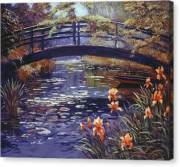 Blue Monet Canvas Print by David Lloyd Glover